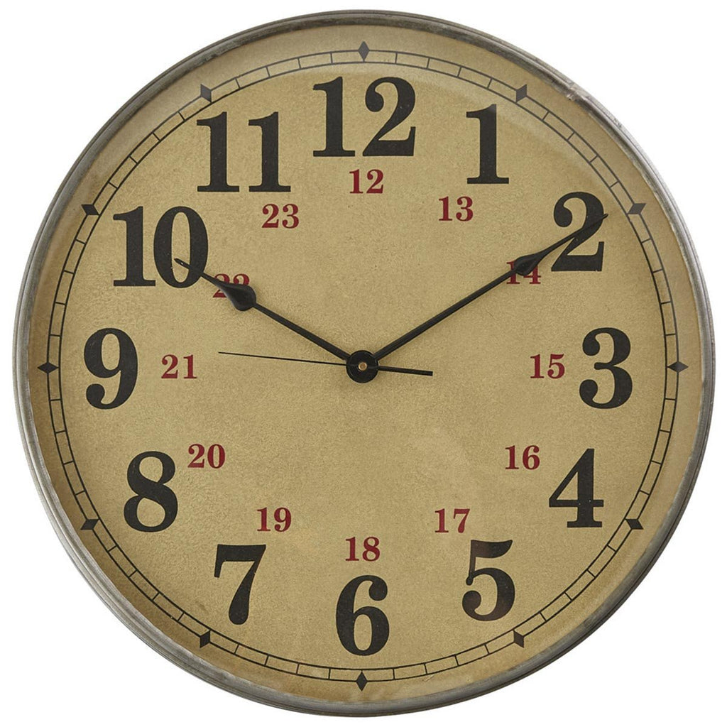 Park Designs - Norwood Wall Clock  18 Inches Diameter x 3 Inches Deep - Olde Church Emporium