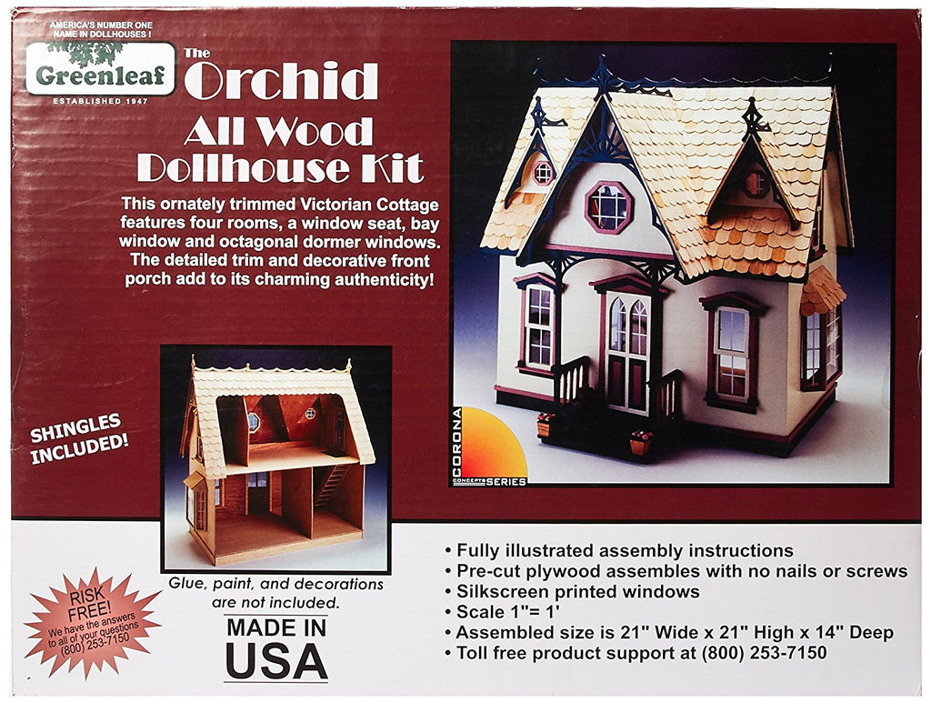 Greenleaf Corona - Orchid Dollhouse Kit - Olde Church Emporium