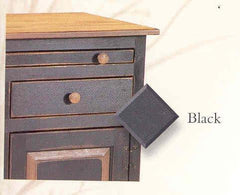 Amish Made Painted Catch All Cabinet - Primitive Black - Made in USA - Olde Church Emporium