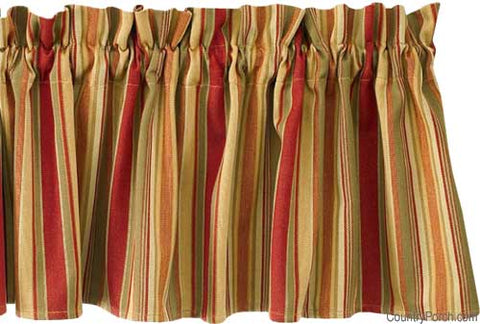 "Palermo Valance 72"" x 14"" 100% Cotton Tuscan Stripes"
