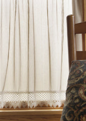 Heritage Lace - Chelsea Collection - Valances, Tiers, Panels, Table top in White, Ecru, Flax