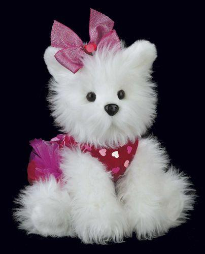 Bearington - Passionate Puppy Plush Valentines Puppy 13 Inches and Retired - Olde Church Emporium