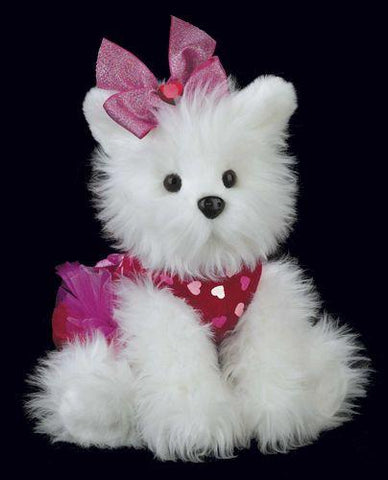 Bearington - Passionate Puppy Plush Valentines Puppy 13 Inches and Retired