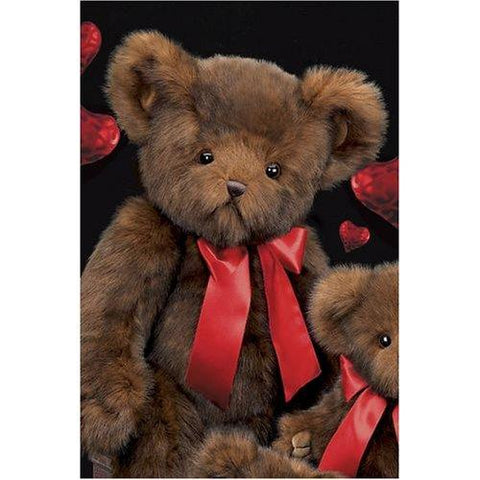 "Bearington - Brown Fluffy Bear ""Papa Heartford"" - 30 Inches"