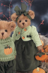 Bearington Bear Paulette Pumpkinseed 14 Inch Plush Fall Bear Retired Collectible