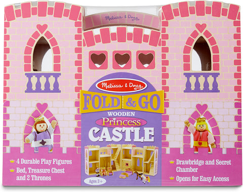 Melissa & Doug Fold & Go Princess Castle 9 wooden play items Age 3+