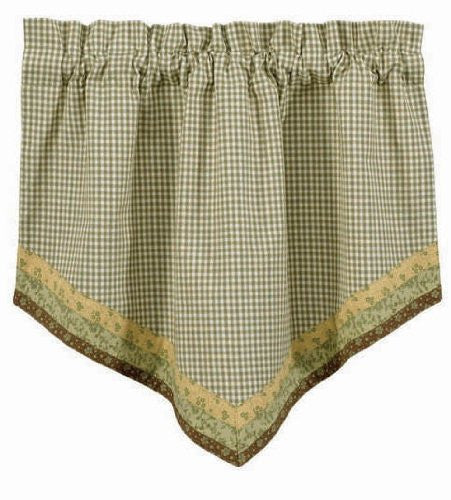 "Park Designs 'Peaceful Cottage' Point Valance 29"" x 22"" [Home Decor]- Olde Church Emporium"