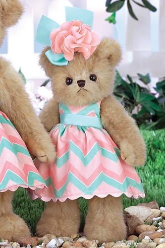 "Bearington Bear Peachy Dressed Plush Teddy Bear Stuffed Animal Toy 10"" - Olde Church Emporium"