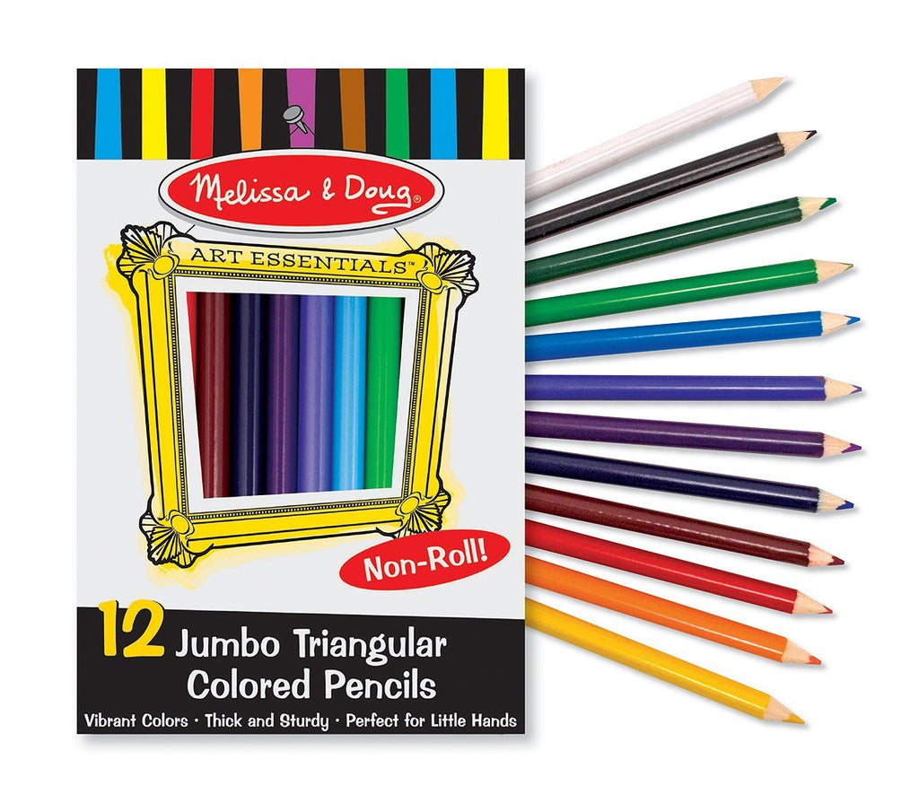 Melissa & Doug Jumbo Triangular Colored Pencils (Set of 12) - Olde Church Emporium