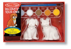 Melissa & Doug Decorate-Your-Own Pet Figurines Craft Kit - Paint a Cat and Dog [Home Decor]- Olde Church Emporium
