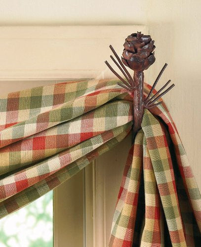 Park Designs - Pine Cone Curtain Hooks  Set of 2 [Home Decor]- Olde Church Emporium