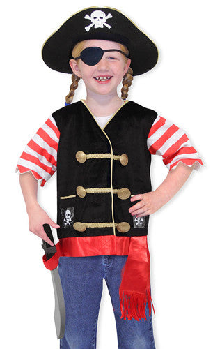Melissa and Doug Pirate Role Play Costume Set 3 to 6 years old [Home Decor]- Olde Church Emporium