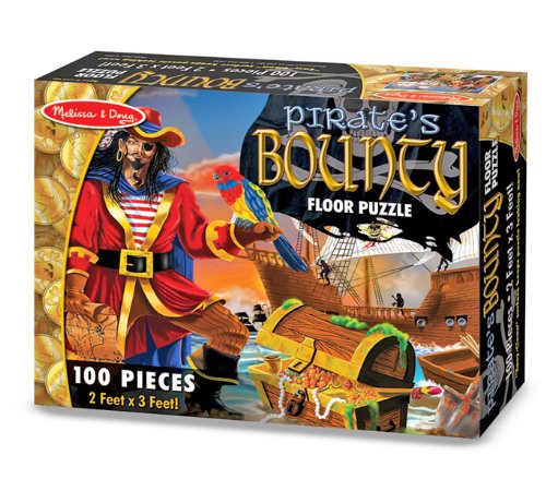 Melissa and Doug - Pirate's Bounty Floor Puzzle - (100 pc) 2 x 3 Feet [Home Decor]- Olde Church Emporium