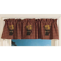 Park Designs Applique Pitcher Lined Valance 60 inches x 14 inches