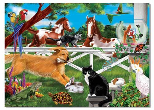 Melissa & Doug Playful Pets 30 Piece Jigsaw Puzzle - Olde Church Emporium