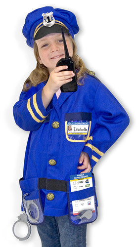 Melissa and Doug Police Officer Role Play Costume Set 3 to 6 years old [Home Decor]- Olde Church Emporium