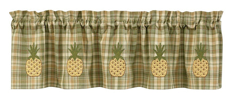 "Park Designs Pineapple 60"" W X 14"" L Lined Valance Color Multi"