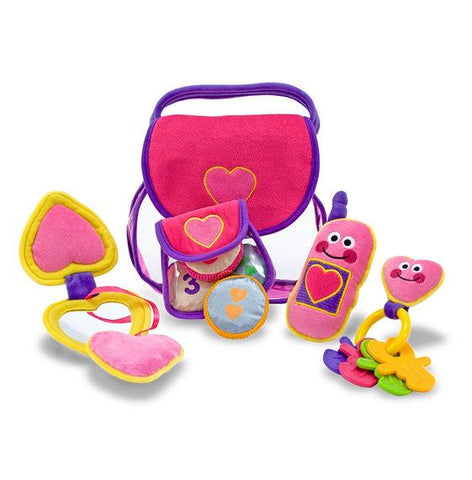 Melissa and Doug Pretty Purse Fill and Spill Toddler Toy 18 Months Old Soft and Durable