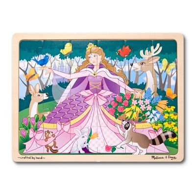 Melissa & Doug  24 Piece Woodland Fairy Princess Wooden Jigsaw Puzzle With Storage Tray