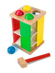 Melissa & Doug - Deluxe Pound and Roll Wooden Tower Toy With Hammer - Olde Church Emporium