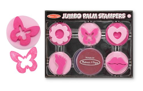Melissa & Doug - Jumbo Palm Stampers - Pink [Home Decor]- Olde Church Emporium