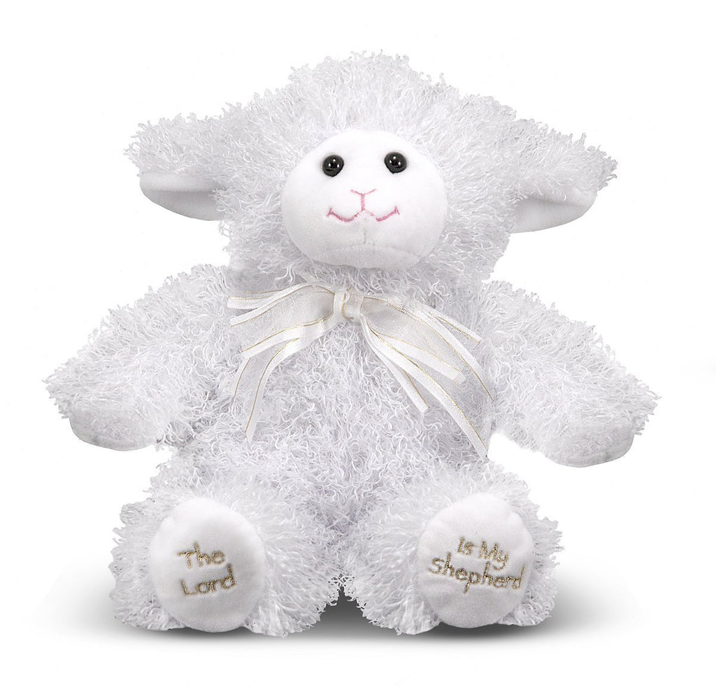 Melissa & Doug - 23rd Psalm Lamb Stuffed Animal With Sound Effects [Home Decor]- Olde Church Emporium