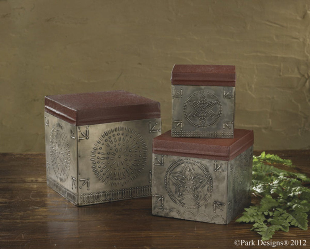 Park Designs - Punched Tin Boxes Set (3)