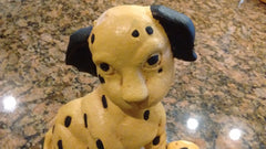 Cast Iron Door Stop - Puppy Dog with soccer ball Decorative Cute Cast Iron - Olde Church Emporium