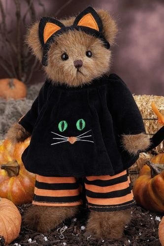 Bearington -Halloween Bear Purrfect Disguise - 10 Inches and Retired - Olde Church Emporium