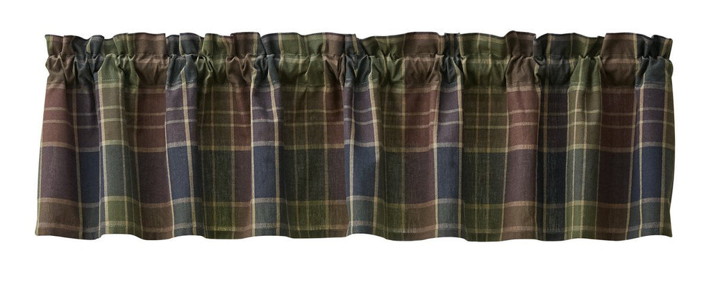 Park Designs Frontier Plaid Unlined Valance 72 x 14 Inches - Olde Church Emporium