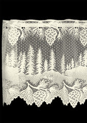 Heritage Lace Pinecone Collection - Curtains and tabletop White and Ecru  Made in USA