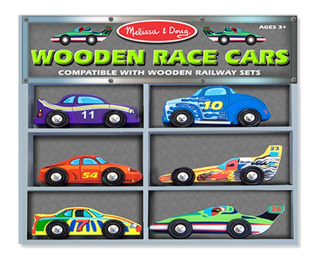 Melissa & Doug - Wooden Race Cars [Home Decor]- Olde Church Emporium