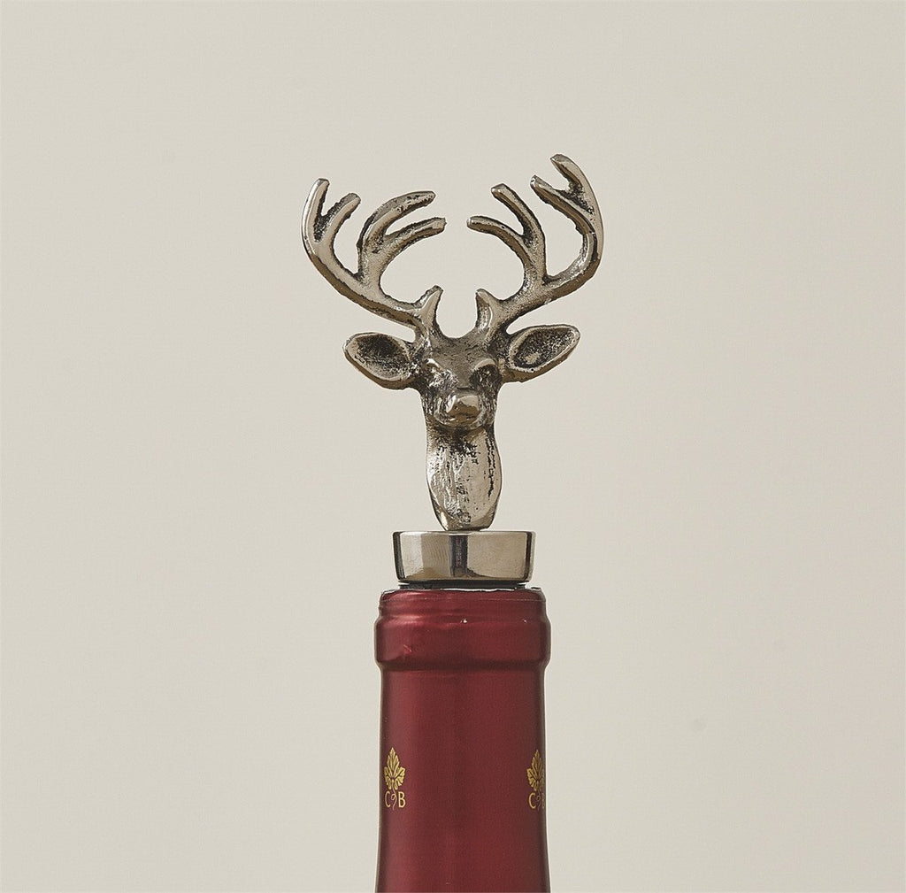 Park Deer Wine Bottle Stopper Metal - Olde Church Emporium