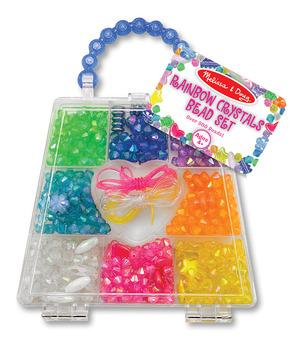 Melissa and Doug: Rainbow Crystals Bead Set 500 Beads + Ages 4+
