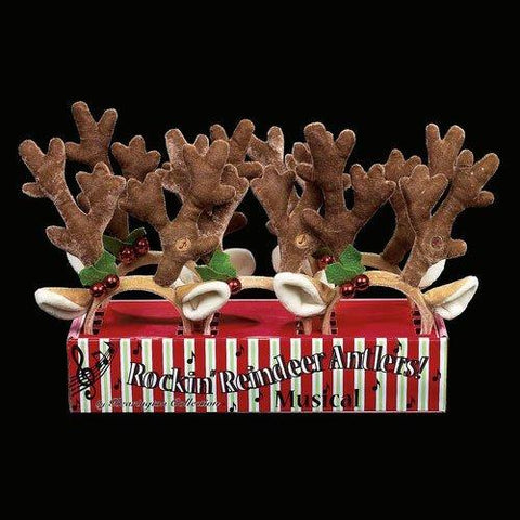 Bearington  -  I pair Reindeer Antlers and Ears with holly, bells and Musical