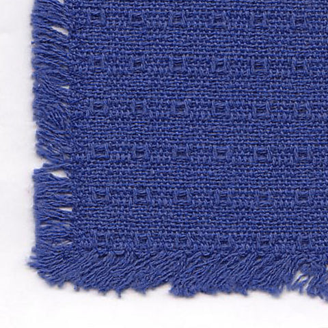 Homespun Tablecloth - Blue Solid - Tablecloths, Napkins, Runners, Placemats - Made in USA