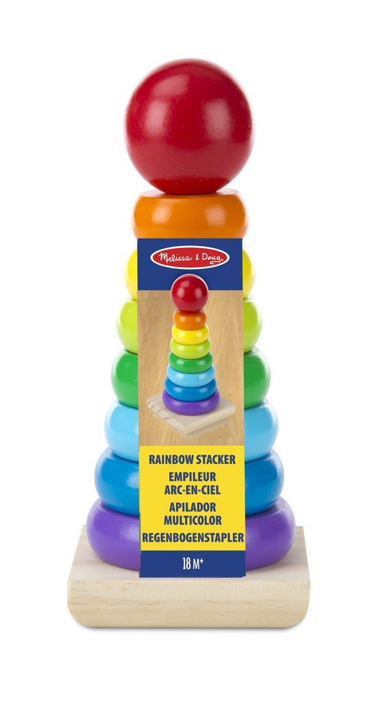Melissa & Doug - Rainbow Stacker Wooden Ring Educational Toy [Home Decor]- Olde Church Emporium