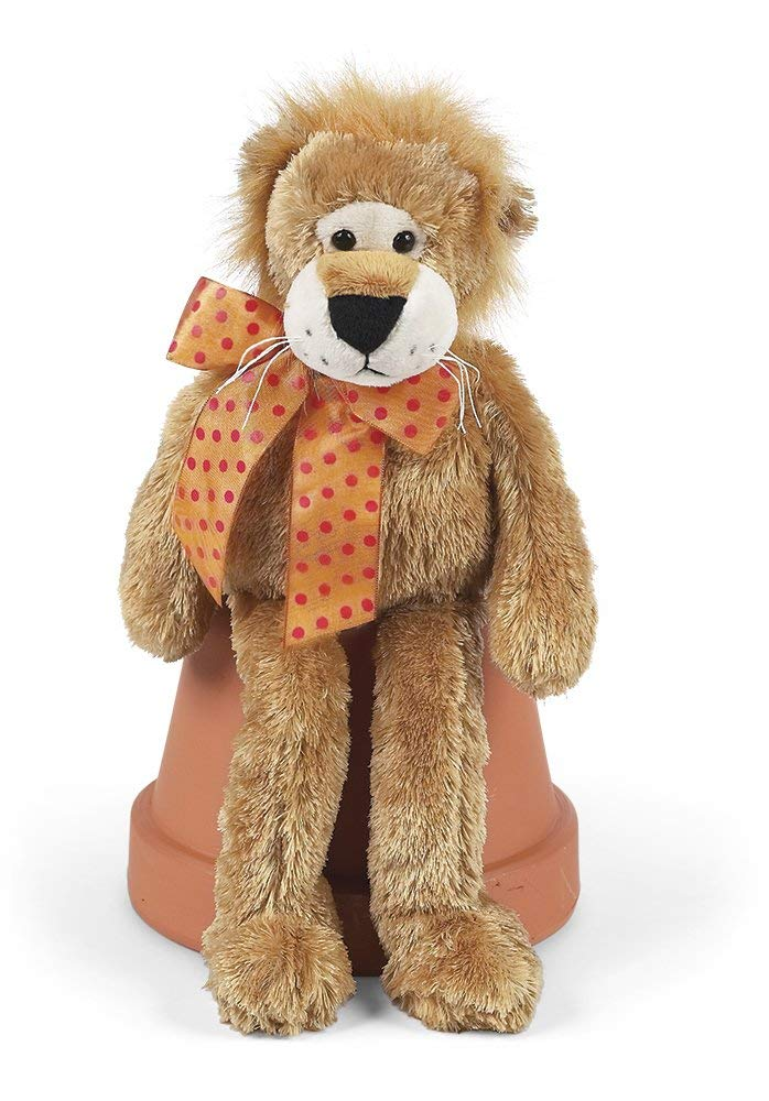 Bearington Lean Beans Roary Long Legged Lion, Plush Stuffed Animal Toy 15""