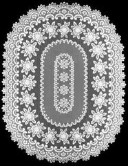 Heritage Lace Rose Collection - Doilies, Table Toppers, Tablecloths, Ecru White Made in U.S.A