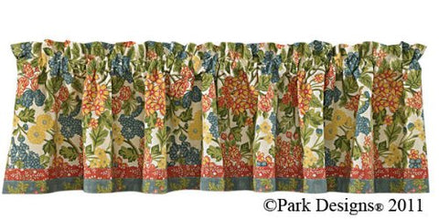 Park Designs - Rue Du Marche Lined  Valance 72 x 14 Inches and Sheer Valance 72 x 14 Inches