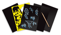 Melissa & Doug -Scratch Art: Safari 4 Assorted Scratch Art Boards, Wooden Stylus, Stencil Sheet Ages 5 to 95 [Home Decor]- Olde Church Emporium