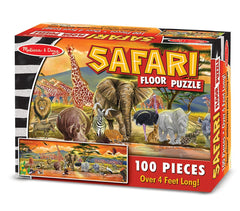 Melissa & Doug African Plains Safari Jumbo Jigsaw Floor Puzzle (100 pcs, over 4 feet long) [Home Decor]- Olde Church Emporium