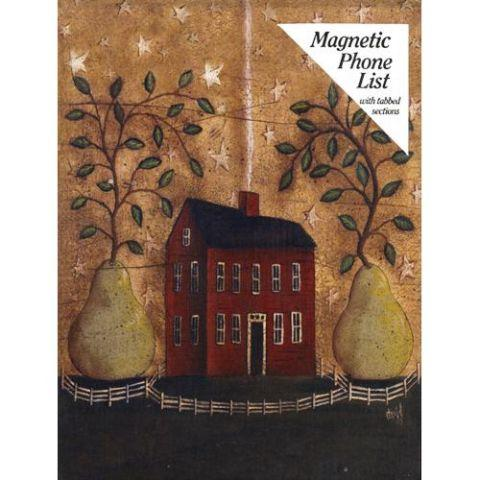 Legacy Pear Tree Fridgemate Magnetic Phone List with Tabbed Sections