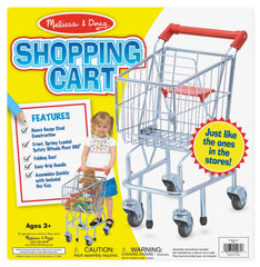 Melissa & Doug - Toy Shopping Cart With Sturdy Metal Frame [Home Decor]- Olde Church Emporium