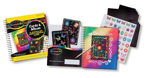 Melissa and Doug Scratch Art Friendship Cards Album Set Ages 5+
