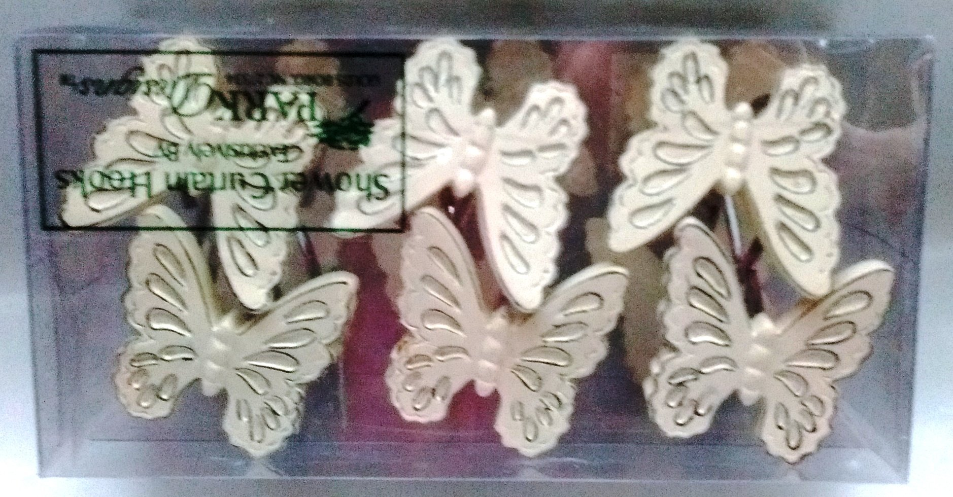 Park Designs Butterfly Shower Curtain Hooks Boxed With 12 Pieces