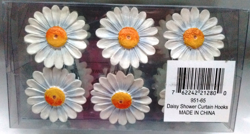 Park Designs - Daisy Shower Curtain Hooks 12 in Pack - Olde Church Emporium