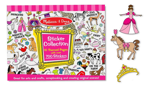 Melissa & Doug -  Sticker Collection Book: Princesses, Tea Party, Animals, and More - 500+ Stickers