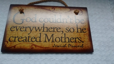 Wooden Sign Humor, Proverbs, Jewish Made in USA Free Shipping