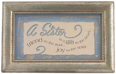 Sister Rectangle Music Box, 6-Inch by 4-Inch by 2-1/2-Inch